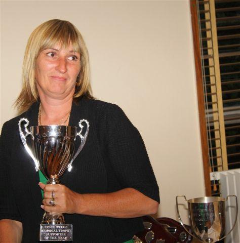 19 June 2009 Allison Wedge with Ernie Wedge Memorial Trophy