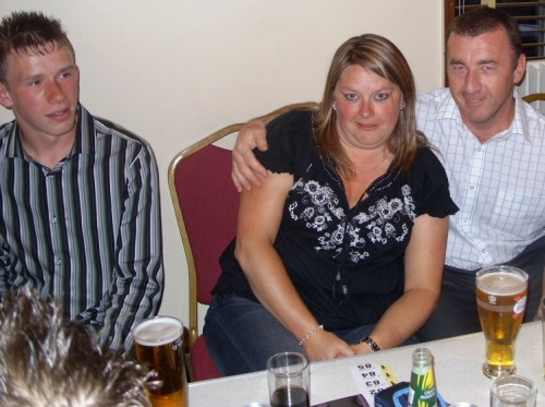 Kieran, Sharon and Chris Hawkins 19 June 2009