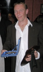 Phil Wedge with his awards July 2008