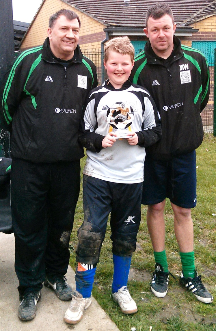 13 April 2013 U11s Player of the Match Finlay Kelly