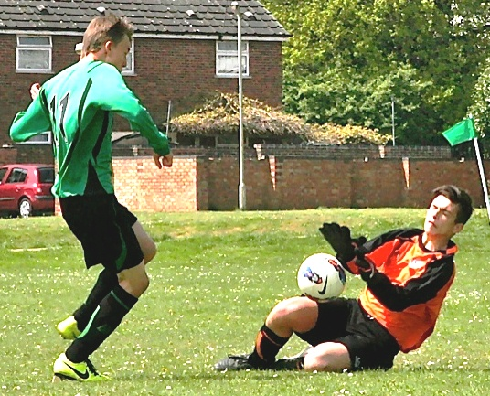 19 May 2013 U15s v Canterbury Youth their keeper and action[4]