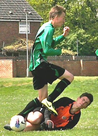 19 May 2013 U15s v Canterbury Youth their keeper and action[5]