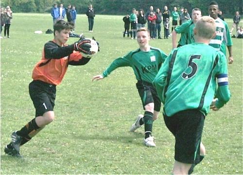 19 May 2013 U15s v Canterbury Youth their keeper and Nathan