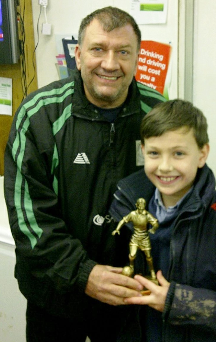 Ian Mace with Player of the Match Beau