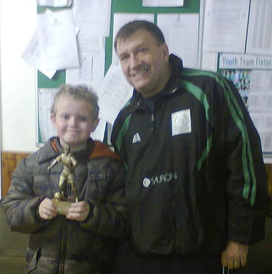 8.12.2012 Master Harris, our Player of the Match in a great 1-0 victory