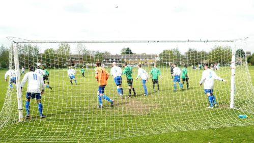 18.5.2013 spot the ball as the reserves attack against Bearsted this afternoon