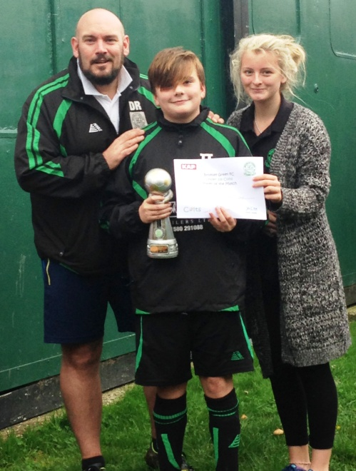 1.11.2014 Well done to Tobias ... PoM against the BG U13s