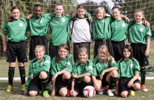 BG Girls before Sunday's win over Woodcombe