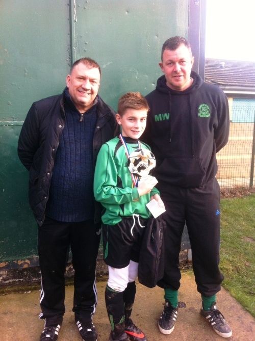 14.12.2013 U12s Player of the Match Lenny Russell