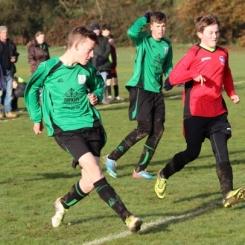 14.12.2013 U15s at Weald Wolves Brandon Bourne in action