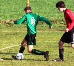 14.12.2013 U15s at Weald Wolves Jack in action