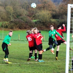 14.12.2013 U15s at Weald Wolves Mitchell goes for goal