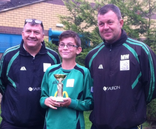 14.9.2013 Curtis is the U12s Player of the Match