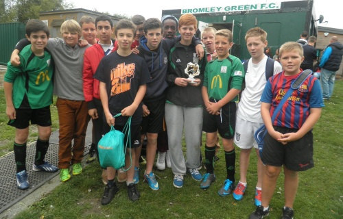 14.9.2013 Player of the Match Ryan Turner and the U14s squad