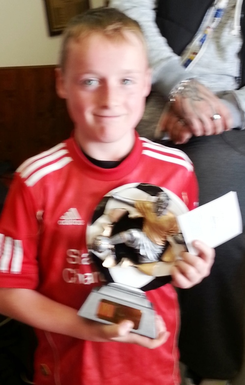 16 November 2013 U10s Player of the Match Dominic Sloan