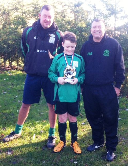 16 November 2013 U12s Player of the Match Leo Hopley