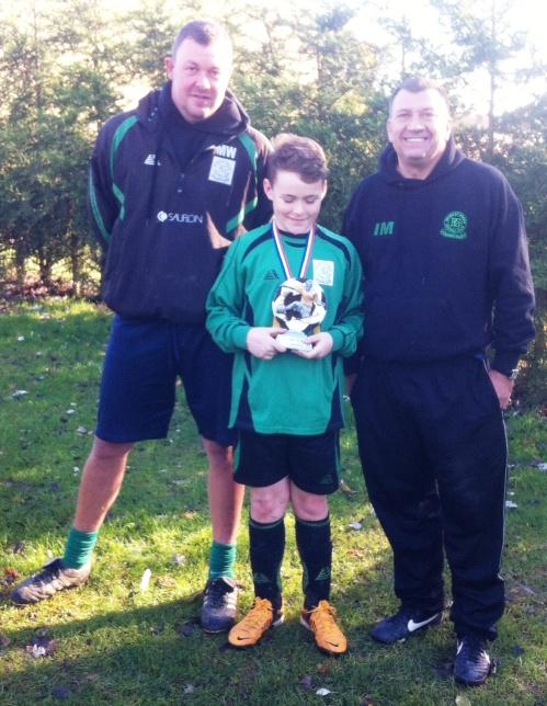 16 November 2013 U12s Player of the Match Leo Hopley