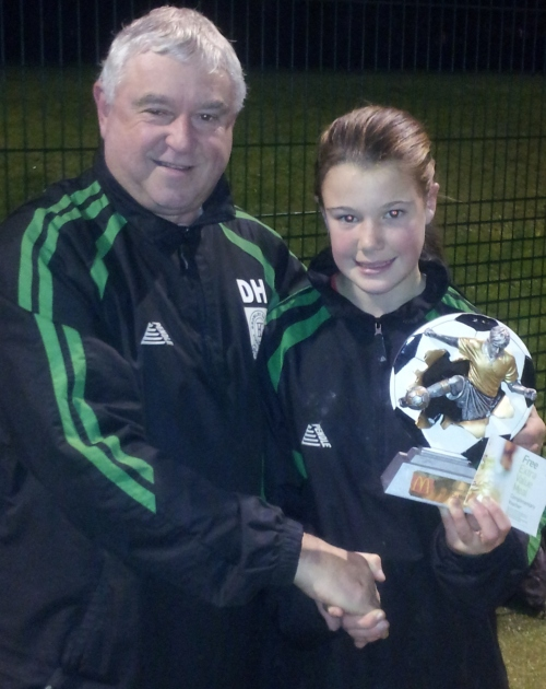 18.11.2013 At training ... Tia is BG Girls Player of the Match from Saturday[2]