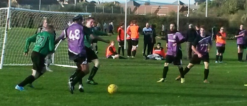 Action from today's friendly with Anchorians