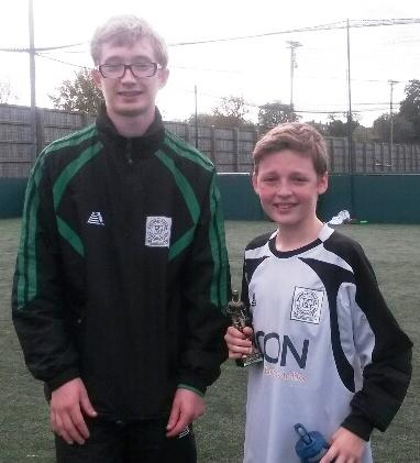 19.10.2014 BG Valiants U13s Ben Humphries with Charlie Fletcher