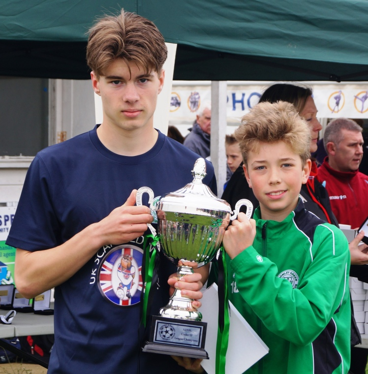 Hayden and Jack with the Cup