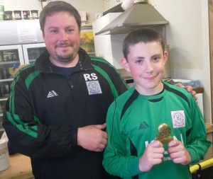 Well done to the Green's U11 Player of the Tournament today