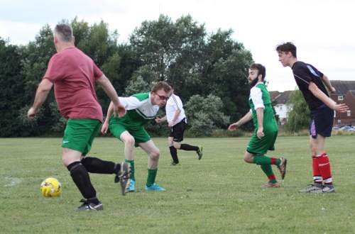 Action from today's battle at Waterside