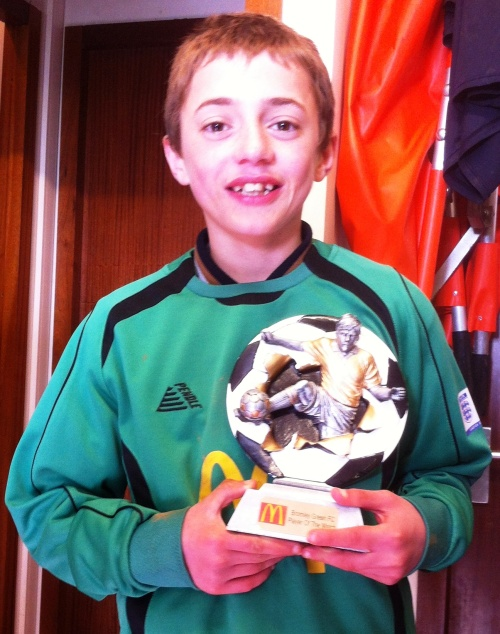 22.3.2014 Leon with his McDonalds award ... congratulations!