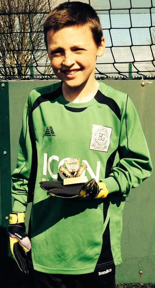 Ben ... U11s Player of the Match