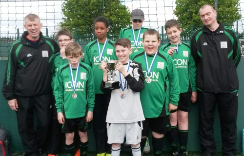 Kian won't drop this one! The runners-up trophy ... well done everybody ... the club is so proud of you all