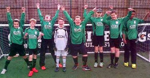 The Bromley Green lads warming up before their terrific tournament performance on Sunday