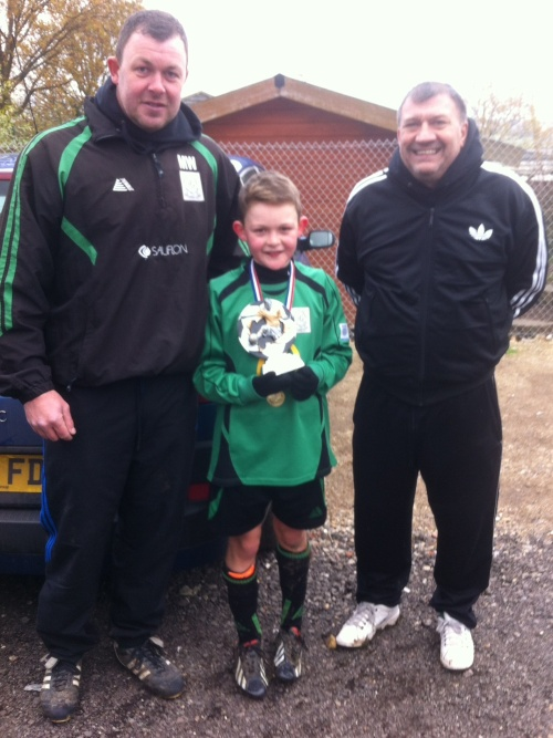 30 November 2013 U12s Player of the Match Sonny Wirt