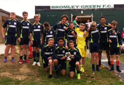 There's nothing like that winning feeling! The Under 14s after their stunning performance today