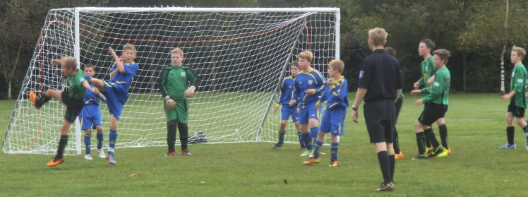 Action from the Hawkinge game