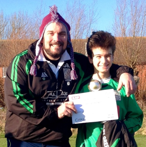 6.12.2014 Alex returned from his very unfair suspension to be Player of the Match at New Romney this morning