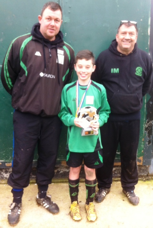 7.12.2013 U12s Player of the Match Louis Phelan