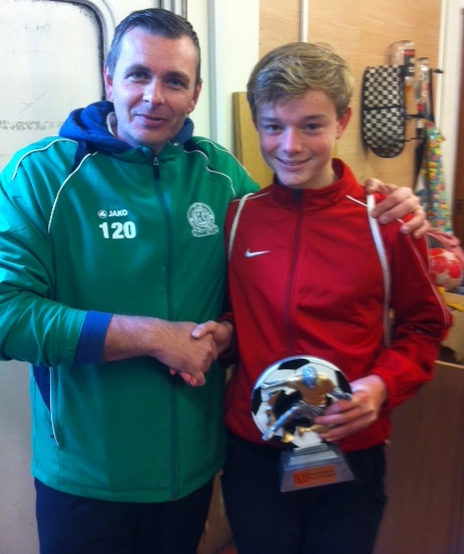 A proud John Collen with our McDonalds PoM James Russell today