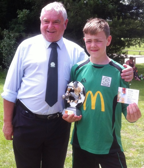 Captain Kieran is our McDonalds Player of the Tournament