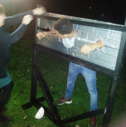 Jimbo in the stocks