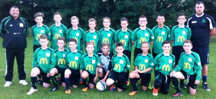 Under 12s squad December 2013