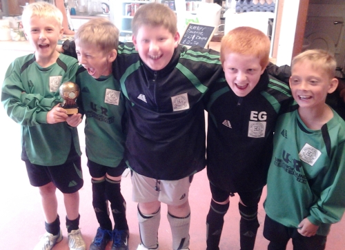 Happy people returning from the Faversham Tournament
