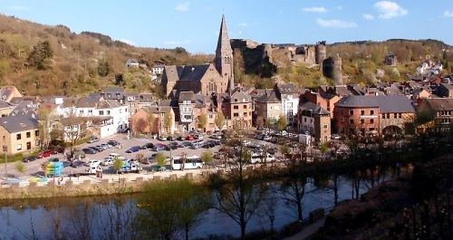 La-Roche-en-Ardenne where we are staying ... the tournament is 11 miles away at RUS Melreux, Hotton