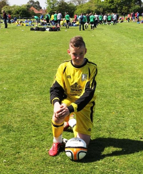Louis pictured at Bognor in early May when he enjoyed a great tournament