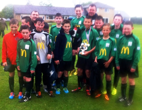 McDonalds Player of the Match is Ryan deen here with the squad after the 5-1 win over S&B