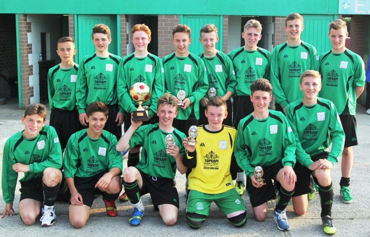 The Under 15s warmed up for the Bolton Youth Cup by winning the South Ashford Tournament