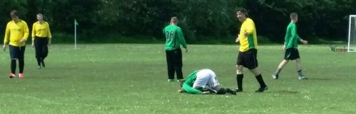 Another dirty tackle by DR during last week's Valiants challenge match! More photos to follow later on the Valiants Page