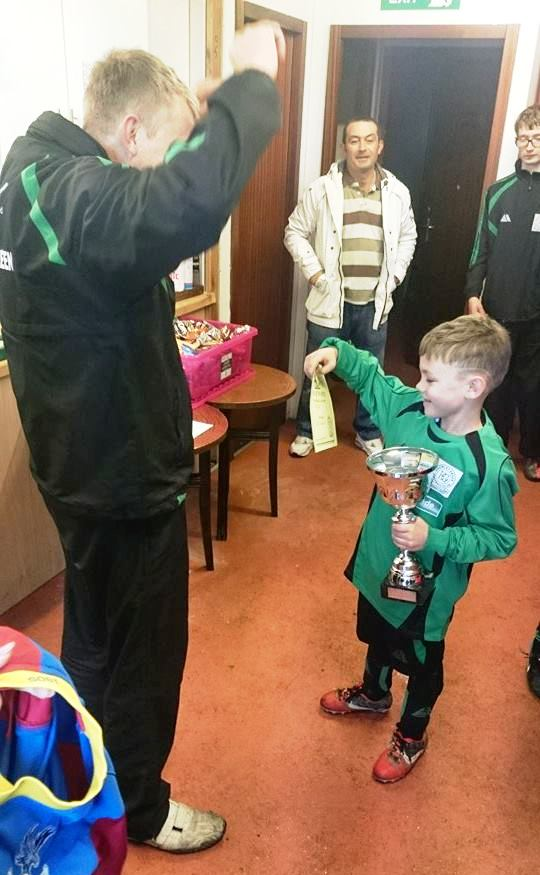 """I want some more!"" Kain receives his awards for today's great display"