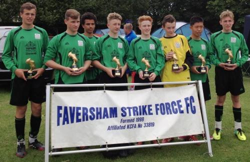 15.6.2014 U15s winners at Faversham Strike Force Tournament[8]