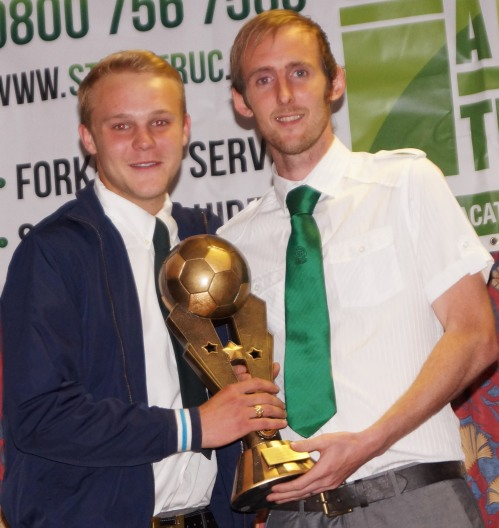 Well done to Nathan Stevens who was voted Sunday First Team Player of the Year