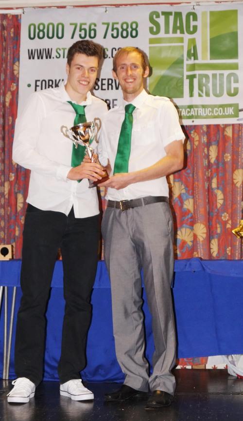 Tom Moon - the winner of the seniors Award for Excellence